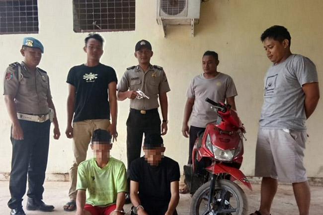 Dua Pelaku Curas Bersenpi Rakitan Ditangkap Polsek Rawa Jitu Selatan