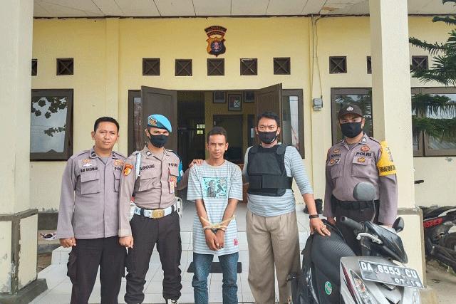Personil Polsek Kahayan Kuala Berhasil Menangkap Pencuri Sepera Motor